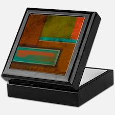 Abstract Brown Rectangles Keepsake Box