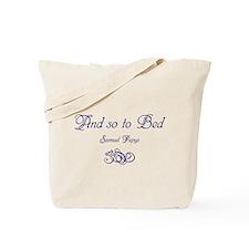 So to Bed, Pepys Tote Bag