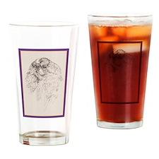 King Charles English Toy Spaniel Drinking Glass