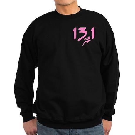 Pink 13.1 half-marathon Sweatshirt (dark)