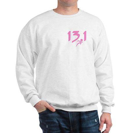 Pink 13.1 half-marathon Sweatshirt