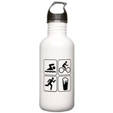 Swim Bike Run Drink Water Bottle