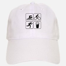 Swim Bike Run Drink Baseball Baseball Cap