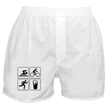 Swim Bike Run Drink Boxer Shorts
