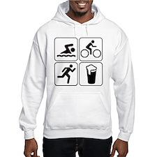 Swim Bike Run Drink Hoodie