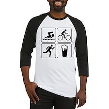 Swim Bike Run Drink Baseball Jersey