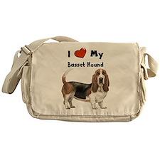 I Love My Basset Hound Messenger Bag