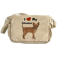 I Love My Chihuahua Messenger Bag