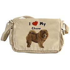 I Love My Chow Messenger Bag