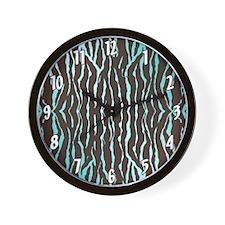 Colorful Zebra Patterns Wall Clock