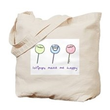 Lollipops Make Me Happy Tote Bag