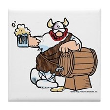 Hagar and Keg Tile Coaster