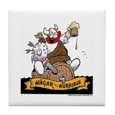 Hagar on Keg Tile Coaster