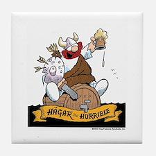 Hagar on Keg Tile Coaster