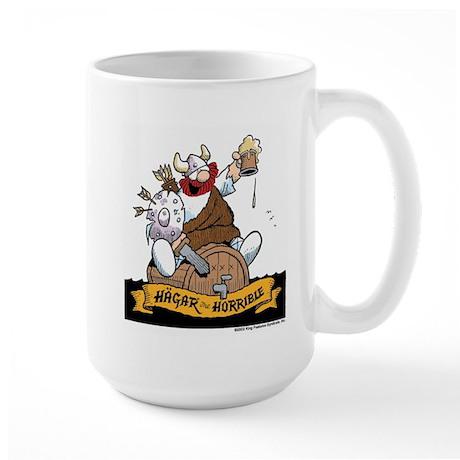 Hagar on Keg Large Mug