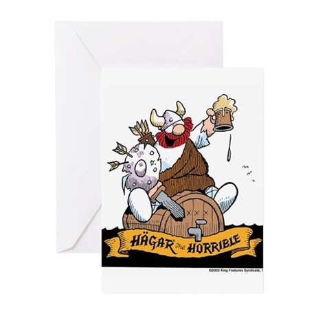 Hagar on Keg Greeting Cards (Pk of 10)