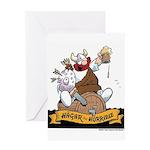 Hagar on Keg Greeting Card
