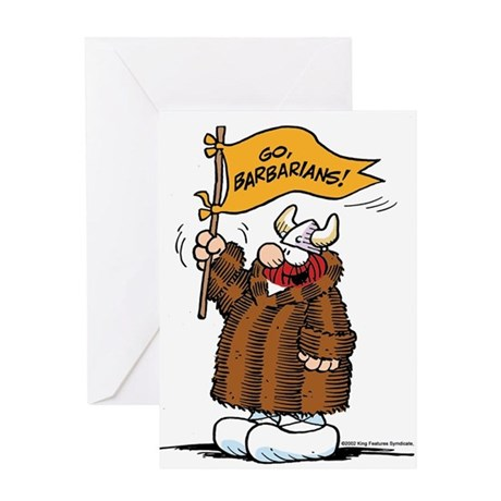 Go Barbarians! Greeting Card