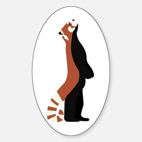 Standing Red Panda Sticker (Oval)