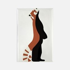 Standing Red Panda Rectangle Magnet