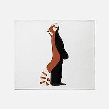 Standing Red Panda Throw Blanket