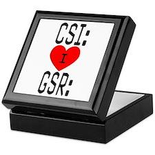 I LOVE CSI & GSR Keepsake Box