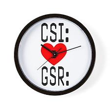 I LOVE CSI & GSR Wall Clock