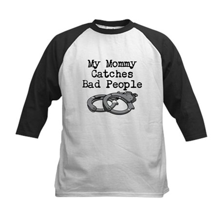 My Mommy Catches Bad People Kids Baseball Jersey