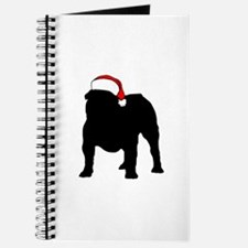 Bulldog Christmas Hat Journal