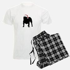 Bulldog Christmas Hat Pajamas