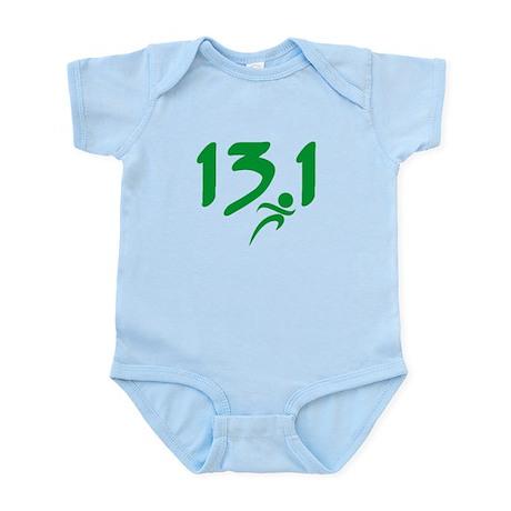 Green 13.1 half-marathon Infant Bodysuit