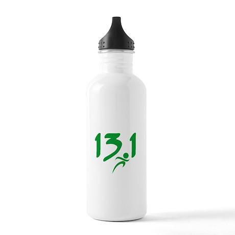 Green 13.1 half-marathon Stainless Water Bottle 1.