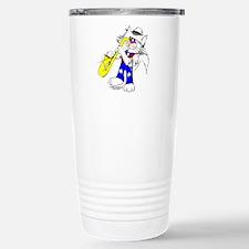 Sax Cat Stainless Steel Travel Mug