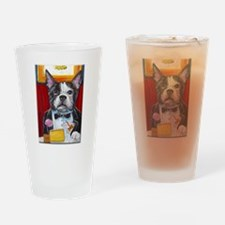 French Bulldog at Dinner Drinking Glass