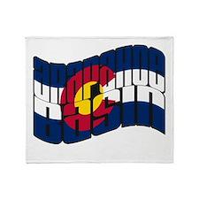 Arapahoe Basin CO Flag Throw Blanket