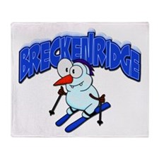 Breckenridge Snowman Throw Blanket