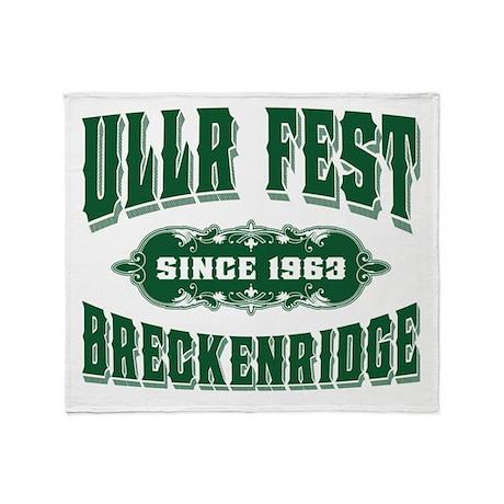 UllrFest Since 1963 Green Throw Blanket