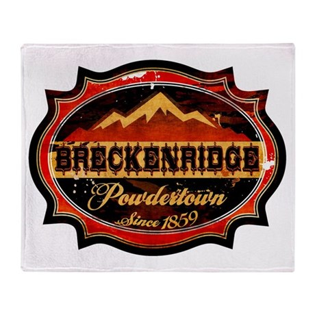 Breckenridge Powdertown Throw Blanket