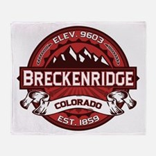Breckenridge Red Throw Blanket