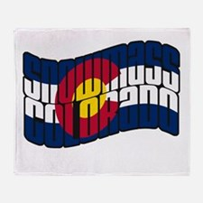 Snowmass CO Flag Throw Blanket