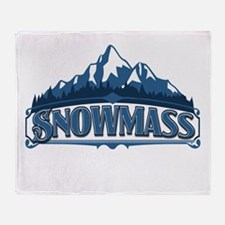 Snowmass Blue Mountain Throw Blanket