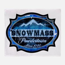 Snowmass Powdertown Ice Throw Blanket