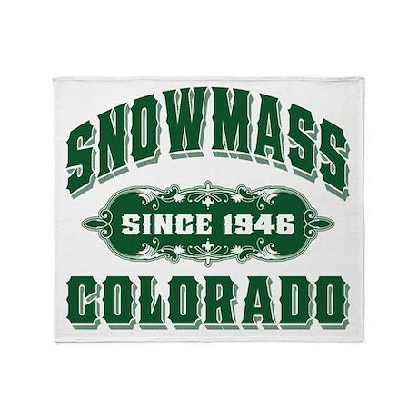 Snowmass Since 1946 Green Throw Blanket