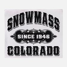 Snowmass Since 1946 Black Throw Blanket