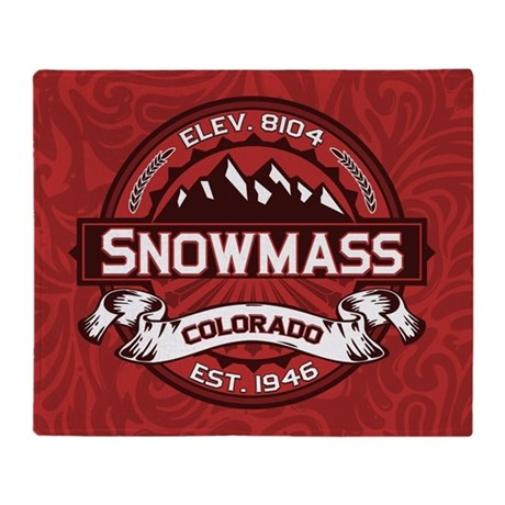 Snowmass Red Throw Blanket