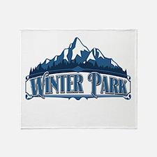 Winter Park Blue Mountain Throw Blanket