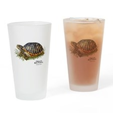 Ornate Box Turtle Drinking Glass