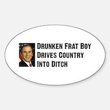 Drunken Frat Boy Oval Decal
