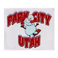 Park City Snowboarder Throw Blanket