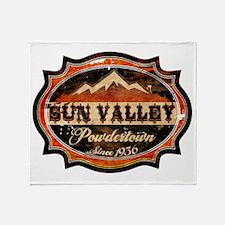 Sun Valley Powdertown Rust Throw Blanket